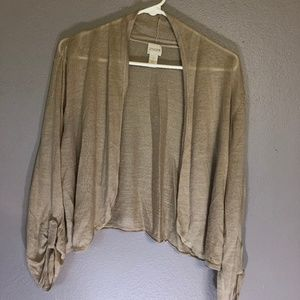 Chico size 3 Khaki Shrug